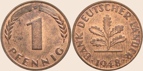 Münzkatalog Online 1 Pfennig 1948 1949