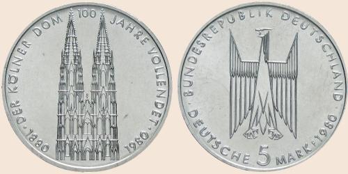 Münzkatalog Online 5 Deutsche Mark 1980 100 Jahr Feier Der