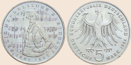 Münzkatalog Online 5 Deutsche Mark 1984 175 Geburtstag Von Felix