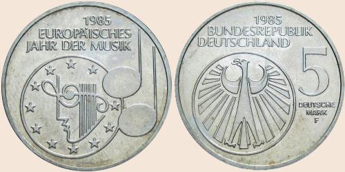Münzkatalog Online 5 Deutsche Mark 1985 Europäisches Jahr Der