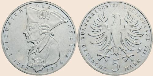 Münzkatalog Online 5 Deutsche Mark 1986 200 Todestag Von