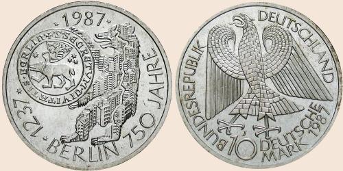 Münzkatalog Online 10 Deutsche Mark 1987 750 Jahr Feier Berlins