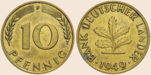 Münzkatalog Online 10 Pfennig 1949