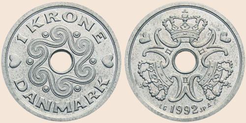 Münzkatalog Online 1 Krone 1992 2001