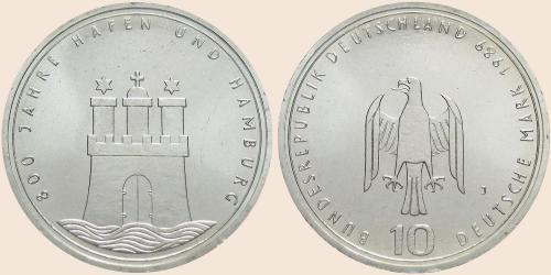 Münzkatalog Online 10 Deutsche Mark 1989 800jähriges Bestehen Des