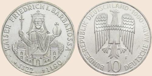 Münzkatalog Online 10 Deutsche Mark 1990 800 Todestag Von Kaiser
