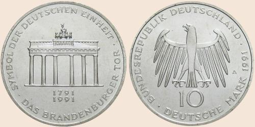 Münzkatalog Online 10 Deutsche Mark 1991 200jähriges Bestehen Des