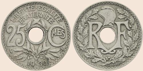 Münzkatalog Online 25 Centimes 1917 1937