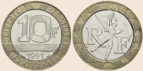 Münzkatalog Online 10 Francs 1988 2001