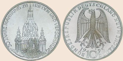 Münzkatalog Online 10 Deutsche Mark 1995 Wiederaufbau Der