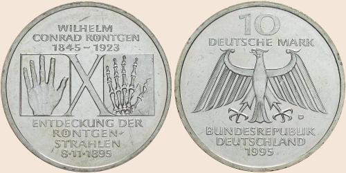 Münzkatalog Online 10 Deutsche Mark 1995 150 Geburtstag Von