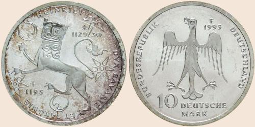 Münzkatalog Online 10 Deutsche Mark 1995 800 Todestag Von