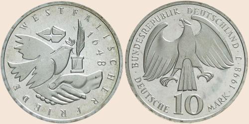 Münzkatalog Online 10 Deutsche Mark 1998 350 Jahre Westfälischer
