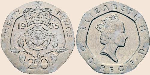 Münzkatalog Online 20 Pence 1985 1997