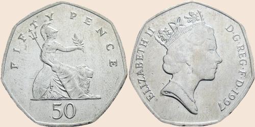 Münzkatalog Online 50 Pence 1997