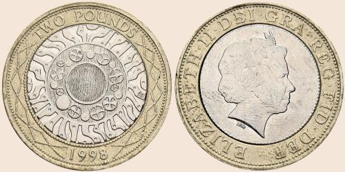 Münzkatalog Online 2 Pfund 1998 Technologischer Fortschritt
