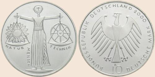 Münzkatalog Online 10 Deutsche Mark 2000 Weltausstellung Expo