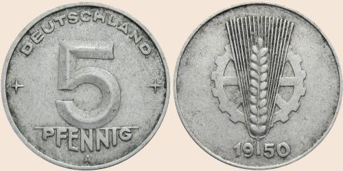 Münzkatalog Online 5 Pfennig 1948 1950