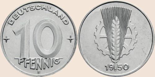 Münzkatalog Online 10 Pfennig 1948 1950