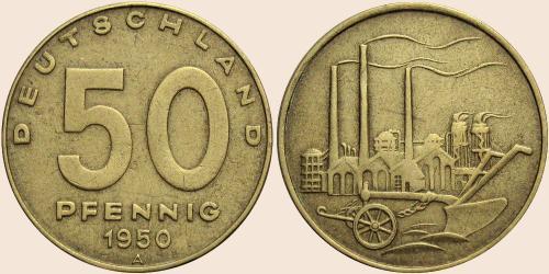 Münzkatalog Online 50 Pfennig 1949 1950