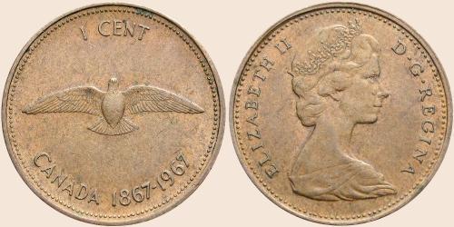 Münzkatalog Online 1 Cent 1967 100 Jahre Kanadische Konföderation