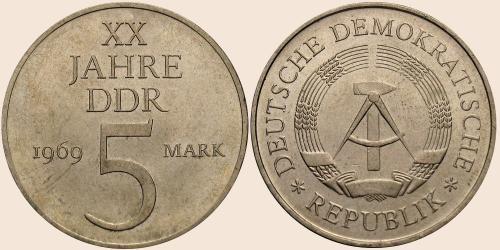 Münzkatalog Online 5 Mark 1969 Xx Jahre Ddr