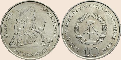 Münzkatalog Online 10 Mark 1972 Gedenkstätte Buchenwald