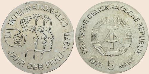 Münzkatalog Online 5 Mark 1975 Internationales Jahr Der Frau 1975