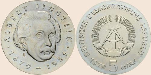 Münzkatalog Online 5 Mark 1979 100 Geburtstag Von Albert Einstein