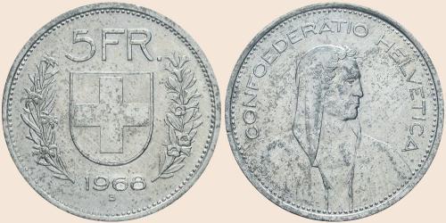 Münzkatalog Online 5 Franken 1968