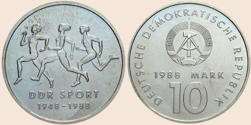 Münzkatalog Online 10 Mark 1988 40 Jahre Ddr Sport