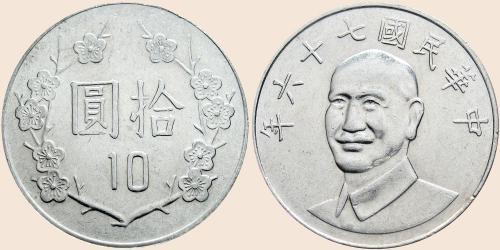 Münzkatalog Online 10 Neue Taiwan Dollar