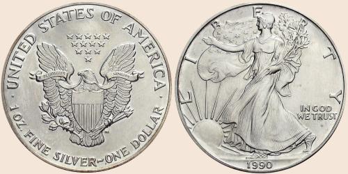 Münzkatalog Online 1 Dollar 1986 American Eagle