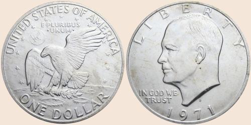 Münzkatalog Online 1 Dollar Eisenhower Dollar