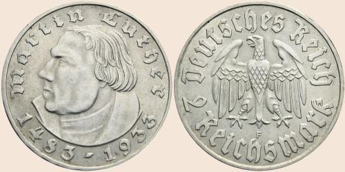 Münzkatalog Online 2 Reichsmark 1933 450 Geburtstag Von Martin Luther