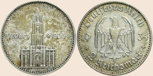 Münzkatalog Online 2 Reichsmark 1934 Jahrestag Der Eröffnung Des