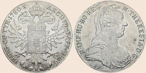 Münzkatalog Online 1 Konventionstaler 1780 Maria Theresien Taler