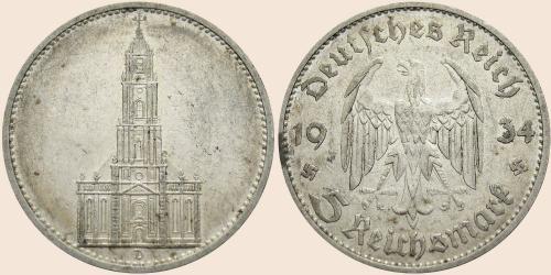 Münzkatalog Online 5 Reichsmark 1934 1935