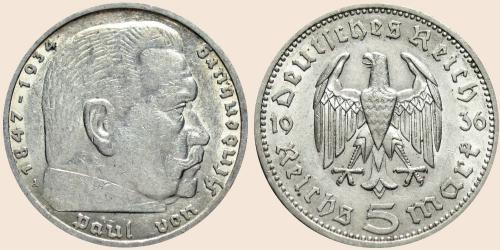 Münzkatalog Online 5 Reichsmark 1935 1936