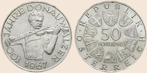 Münzkatalog Online 50 Schilling 1967 100 Jahre Donauwalzer