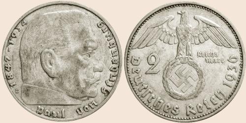 Münzkatalog Online 2 Reichsmark 1936 1939