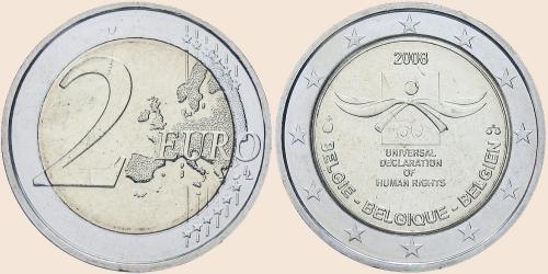 Münzkatalog Online 2 Euro 2008 60 Jahre Menschenrechte