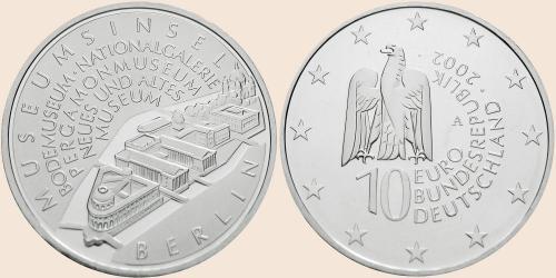 Münzkatalog Online 10 Euro 2002 Museumsinsel Berlin