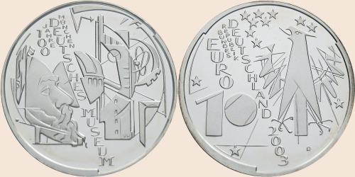 Münzkatalog Online 10 Euro 2003 100 Jahre Deutsches Museum München