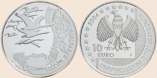 Münzkatalog Online 10 Euro 2004 Nationalparke Wattenmeer