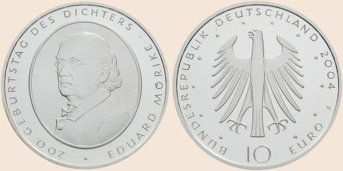 Münzkatalog Online 10 Euro 2004 200 Geburtstag Des Dichters