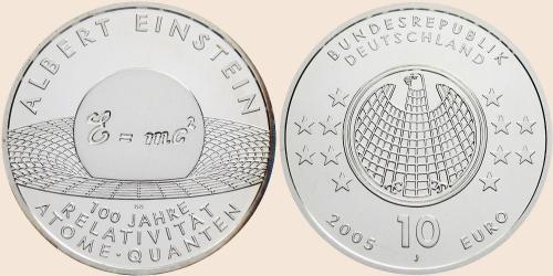 Münzkatalog Online 10 Euro 2005 Albert Einstein 100 Jahre