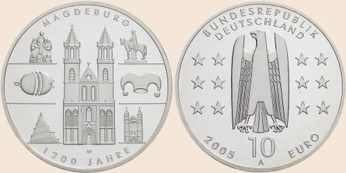 Münzkatalog Online 10 Euro 2005 1200 Jahre Magdeburg