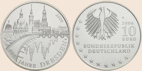 Münzkatalog Online 10 Euro 2006 800 Jahre Dresden