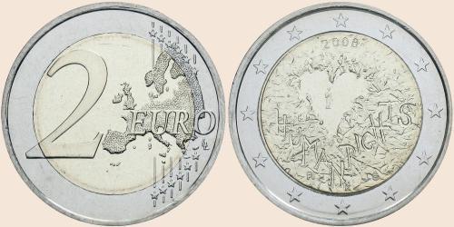 Münzkatalog Online 2 Euro 2008 60 Jahrestag Der Allgemeinen